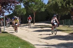 Transicion y comienzo del tramo en bicicleta