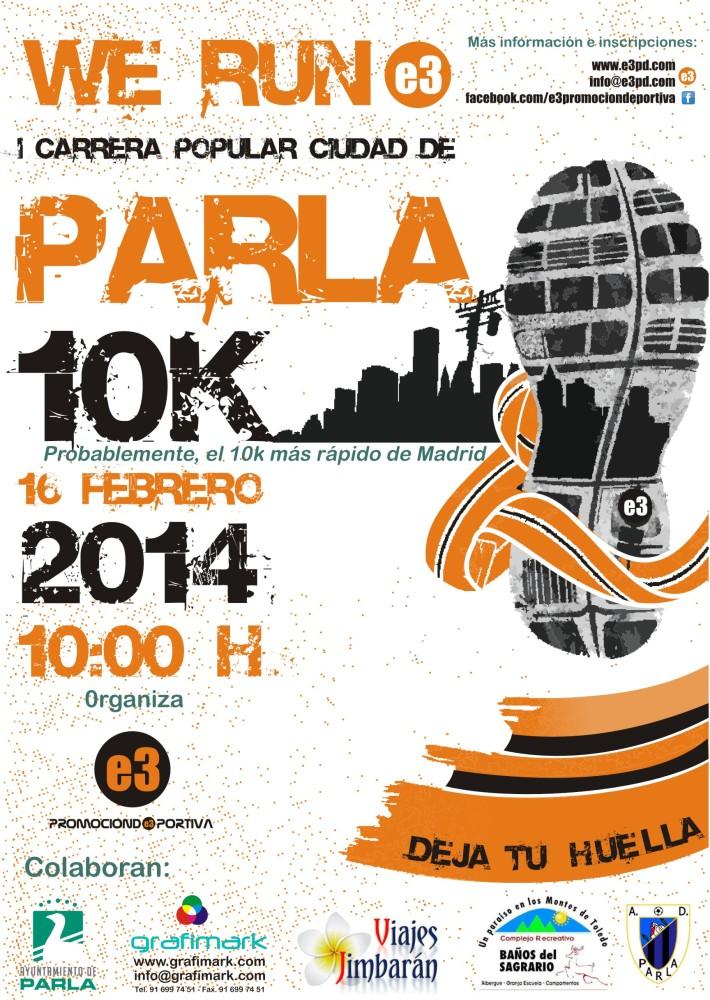 I Carrera popular 10k Ciudad de Parla. Segunda posición de Raul Granjo (2/6)